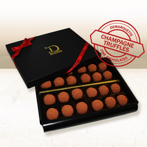 Champagne Truffles made with Dom Perignon (24 truffles)