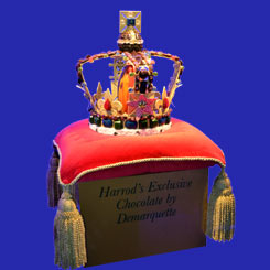 St. Edward's Crown Chocolate Replica at Harrods for Diamond Jubilee