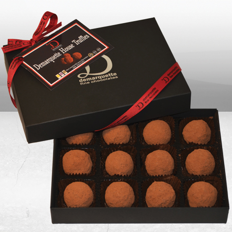Chocolate House Truffles (12 Truffles) by creator of Luxury Chocolate Demarquette