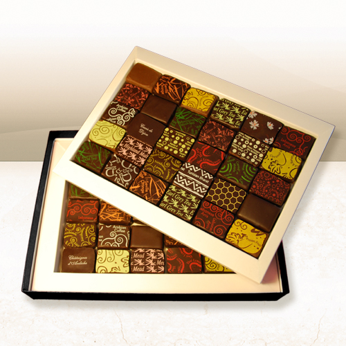 Chocolate Gift Boxes Packaging Uk : Demarquette luxury chocolate gift box of chocolates