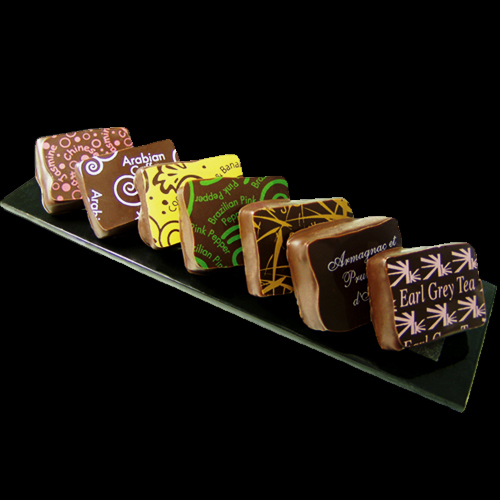 Special selection of flavoured handmade Chocolate Ganache